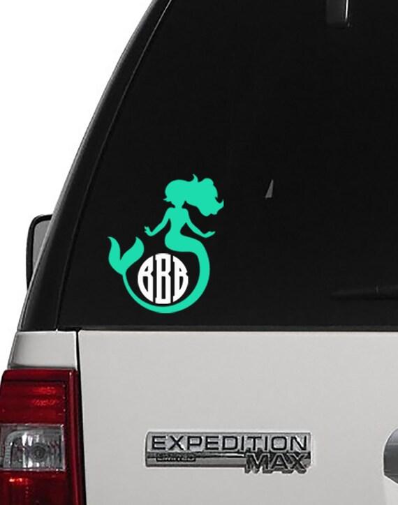 Mermaid Decal Mermaid Monogram Monogram Decal Yeti Cup - Mermaid custom vinyl decals for car