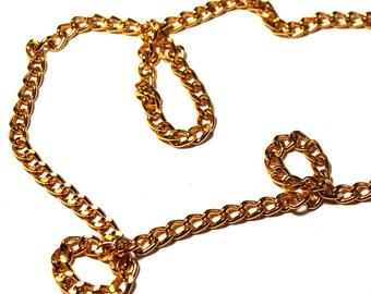 25 ft Gold Aluminum Chain, Aluminum Curb Chain, 11mm x 7mm Curb Chain, 11mm x 7mm Gold Chain, 11mm x 7mm Aluminum Chain, Bulk Chain, Chain
