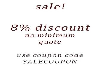 8% SALE, DISCOUNT, SALE