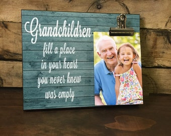 Personalized Grandparents Picture Frame, Grandchildren fill a place in your heart you never knew was empty, Grandparents Gift
