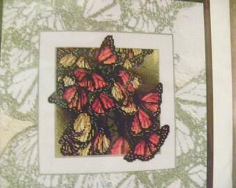 "Cross Stitch Pattern - ""Wings"" - Monarch Butterflies by Janlynn's Just-A-Chart Counted Cross Stitch"