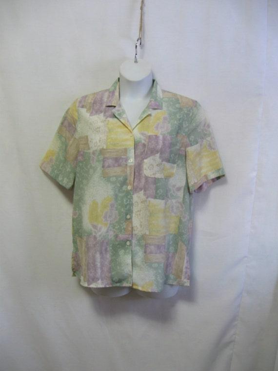 Vintage 80 39 s misses 10 alfred dunner career blouse for Alfred dunner wedding dresses