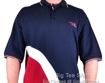 Navy Three Before Eight Quad Mod Polo Shirt 3xl 4xl 5xl 6xl 7xl 8xl