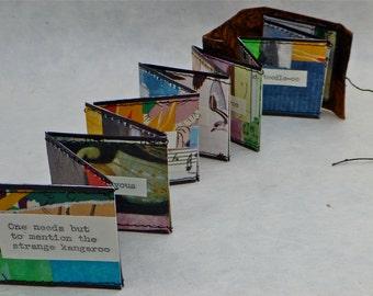 Artists' Book, Handmade Book, Miniature Artist's Book, Miniature Book, Kangaroo, Accordian Book