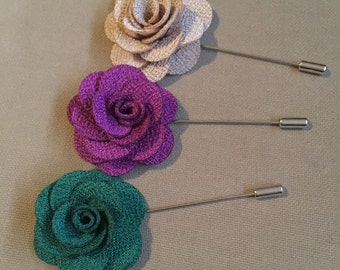 Set of 3 Lapel Flowers - Fall Tones 1