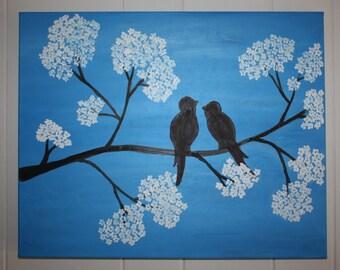 Birds enjoying Spring Blossom