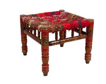 CLEARANCE-Anglo-Indian Stool, ( On Hold for Marly )