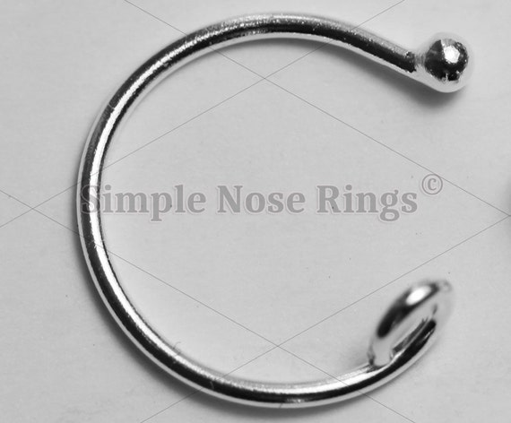 sterling silver lip ring hoop with lip ring