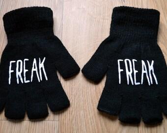 Fingerless gloves - punk gloves - freak gloves - punk accessories - winter accessories - winter gloves