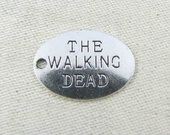 "Set of (10) Silver ""The Walking Dead"" Charms, 10 per package SFF068"