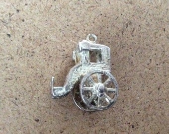 A Silver Handsome Cab Charm Fob Good Condition