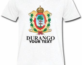Durango Mexico T-shirt V-Neck Tee Vapor Apparel with a FREE custom text(optional)