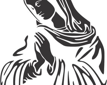 Set (2 Pieces)  Our Lady of Guadalupe Sticker Decals 20 Colors To Choose From.  U.S.A Free Shipping