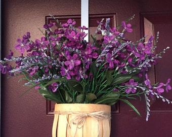 Spring basket wreath