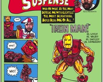 Hip-Hop Super Heroes Prints: Ghostface... IRONMAN!... Hip Hop Art, Urban Art & African American Art