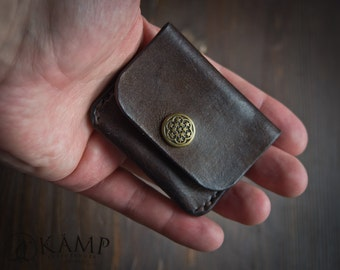 Leather coin purse, coin pouch, coin case