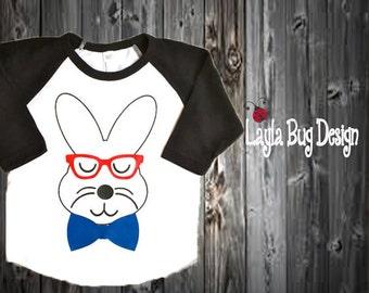 Kid's Easter t-shirt | Raglan tee for boys | toddler bunny shirt | Easter outfit | Easter tee for boys