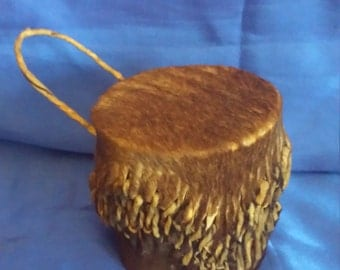 Small African Hand Rattel Drum, made from Animal Skin (Goats?)
