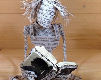To Kill a Mockingbird, Harper Lee, Book Sculpture, Repurposed Book, Altered Book, Paper Art, Librarian Gift, Book lover, Paper Mache
