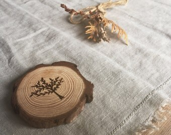Rustic Tree Wood Slice Magnet