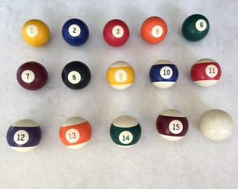 Vintage Billiard Balls - Pool Balls - Repurpose - Craft Supplies - Home Decor //  LNJ