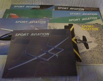 Collection of 8 Sport Aviation magazines from 1984