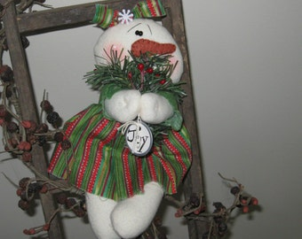 Snowman Doll - Snowman Decoration - Shelf Sitter