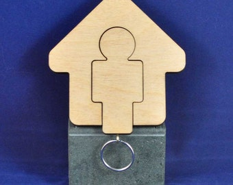 Mens Keyring with Holder (Others Available - See other Store Items )