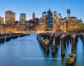 Manhattan Skyline from Brooklyn - New York - United States - Landscape - Fine Art Print