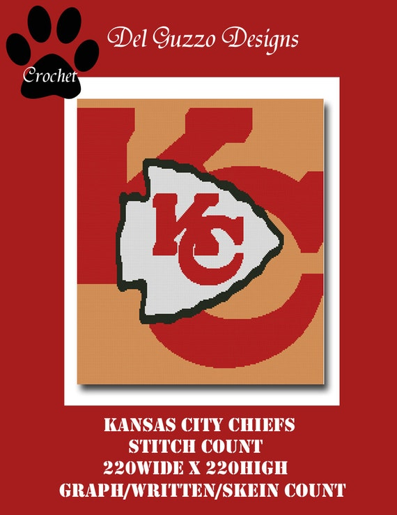Crochet Pattern Kansas City Chiefs Afghan : Kansas City Chiefs Inspired Blanket Crochet by DelGuzzoDesign