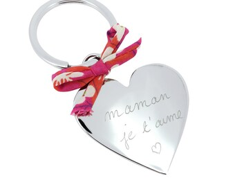 Keychain heart personalized for MOM, sister, friend...