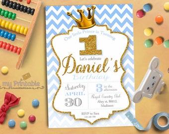 Little Prince Birthday Invitation / Printable