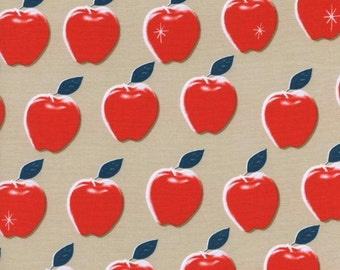 Clearance! 40% Off FQ Apples Red PICNIC Quilting Cotton Fabric Melody Miller