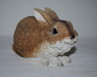 Resin Bunny, Adorable Brown Bunny from K. Collection, Sweet Bunny For ANYTIME of the Year!