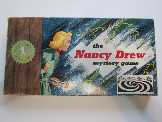 rare vintage the nancy drew mystery board game 1957 100. Black Bedroom Furniture Sets. Home Design Ideas