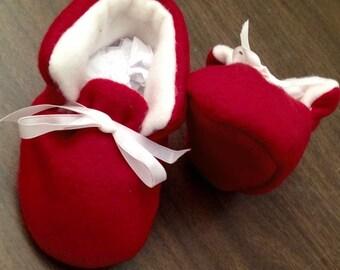 "Red baby slipper 3.5 """