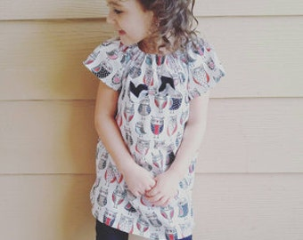 Girl Owl Dress, Toddler Birthday Outfit, Baby Shower Gift, Picture Dress