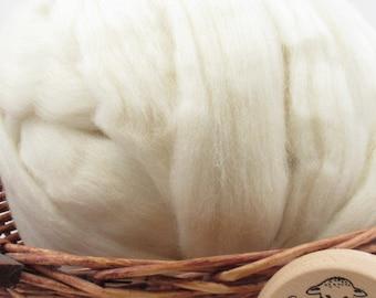 Cheviot Wool - Undyed Natural Spinning Fiber / 1oz
