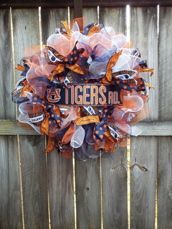 Auburn Deco mesh wreath Auburn football tailgatingAuburn
