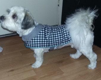 Gingham Dog Jacket