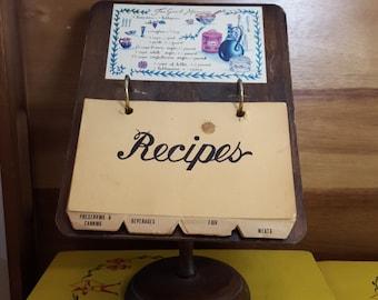 Vintage Wooden Recipe Holder/Podium