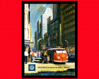Volkswgen Retro Car Poster 1922  - Vintage Car Print Retro Wall Decor Office decoration Car Volkswagen Poster Gift  t