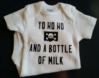Yo Ho Ho And A Bottle Of Milk, Pirate Baby Clothes, Gender Neutral Baby Clothes, Pirate Baby, Baby Shower, Pirate, Funny Baby, Pirate Shower