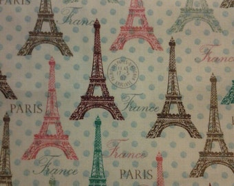 Fast Shipping Eiffel tower scrub top XS to XL scrub custom made 100% Cotton two front pockets and slits at either side
