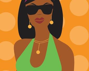 Sunglasses Girl - Downloadable Digital Print