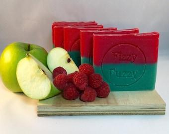 Apple & Raspberry Handmade Soap with Shea Butter.