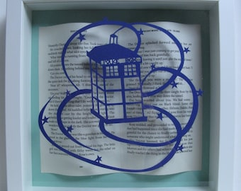 Dr Who framed papercutting