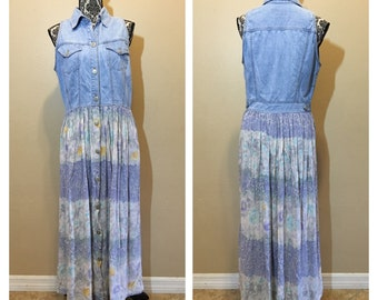 Vintage 90s Denim Sun Dress