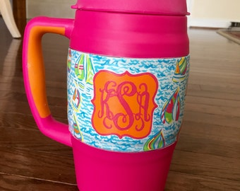 Hand painted bubba keg Lilly Pultitzer {inspired}