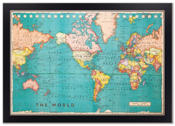 Cork board world map framed cork board map world map map like this item gumiabroncs Choice Image